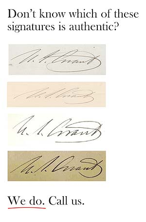 Do you know which of these signatures  is authentic?